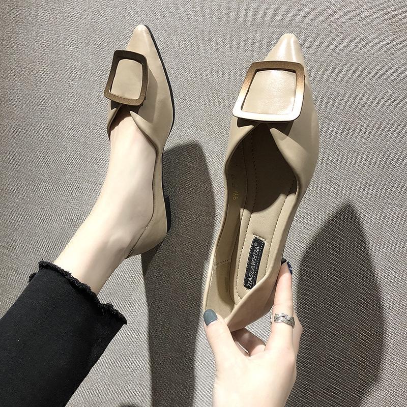 รองเท้าผู้หญิง❣️รองเท้าคัชชู หัวแหลม❣️รองเท้าคัชชูเปิดส้น❣️รองเท้าแฟชั่นผู้หญิง ต่ำ ส้นเท้า รองเท้าสตรี เวอร์ชั่นเกาหลี