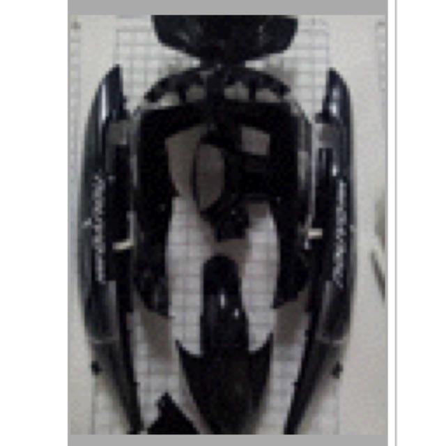 NOUVO MX ชุดสีนูโว MX สีดำล้วน เฟรมรถ กรอบรถ