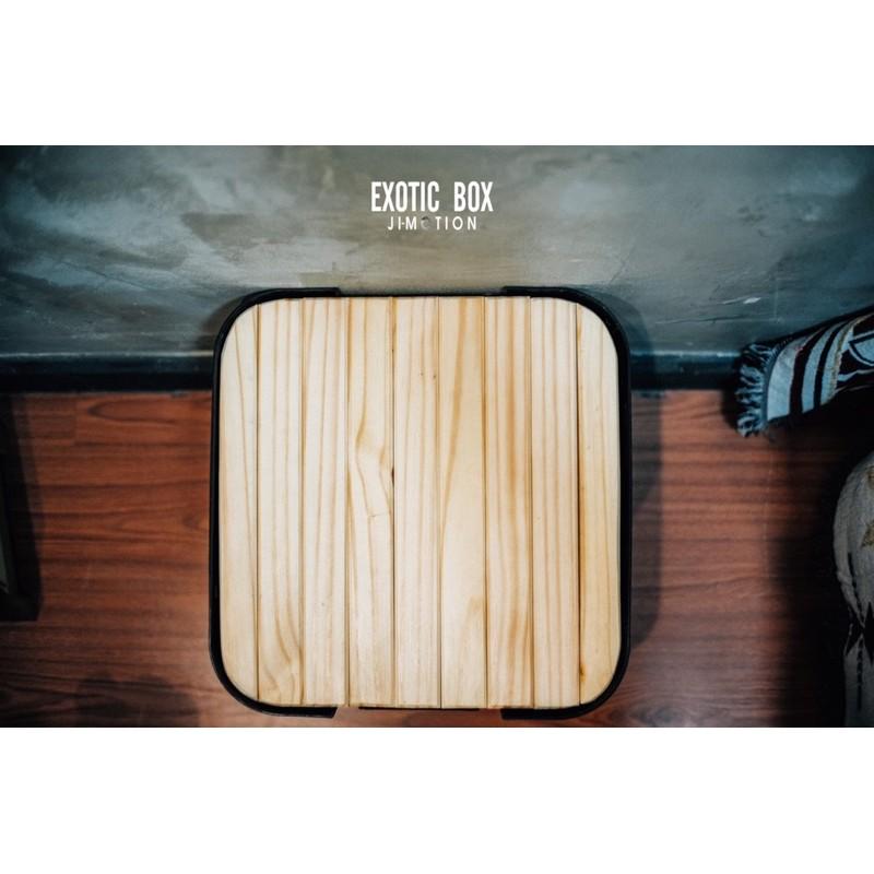 Topไม้30L/ท็อปไม้สน สำหรับวางฝากล่องแคมปิ้ง/camping trunk Cargo กล่องIndex muji truscoกล่องลังอเนกประสงค์