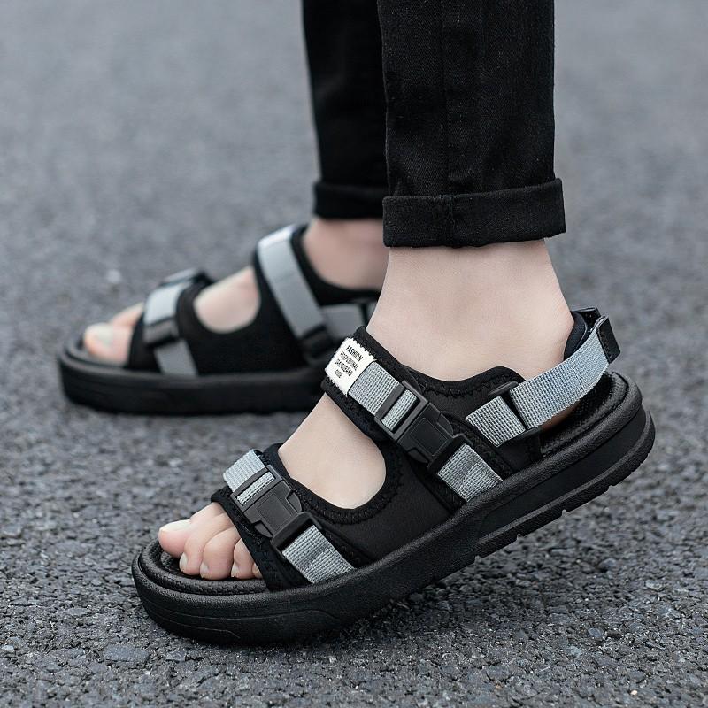 รองเท้าแตะ รองเท้าคัชชูผู้ชาย รองเท้ารัดส้น รองเท้ารัดส้นผู้ชาย รองเท้าชาย SKYE รองเท้าแตะ ลำลอง สีดำ  สำหรับผู้ชาย