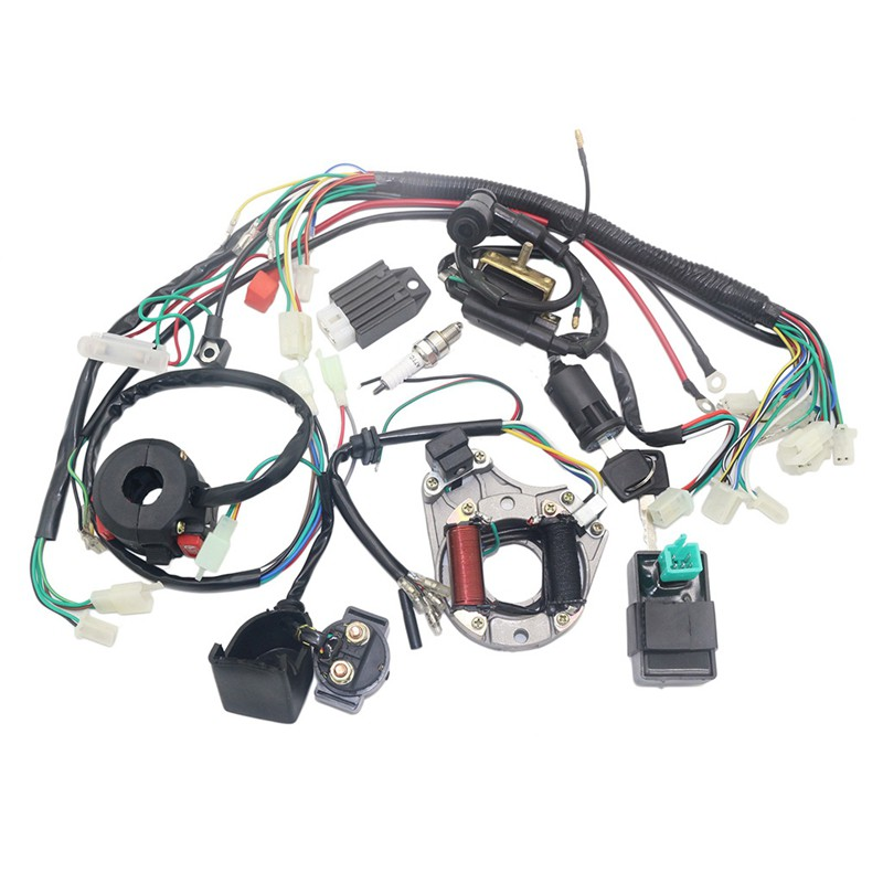 go kart gy6 wiring harness complete electrics atv gy6 150cc cdi stator wiring harness scooter  complete electrics atv gy6 150cc cdi