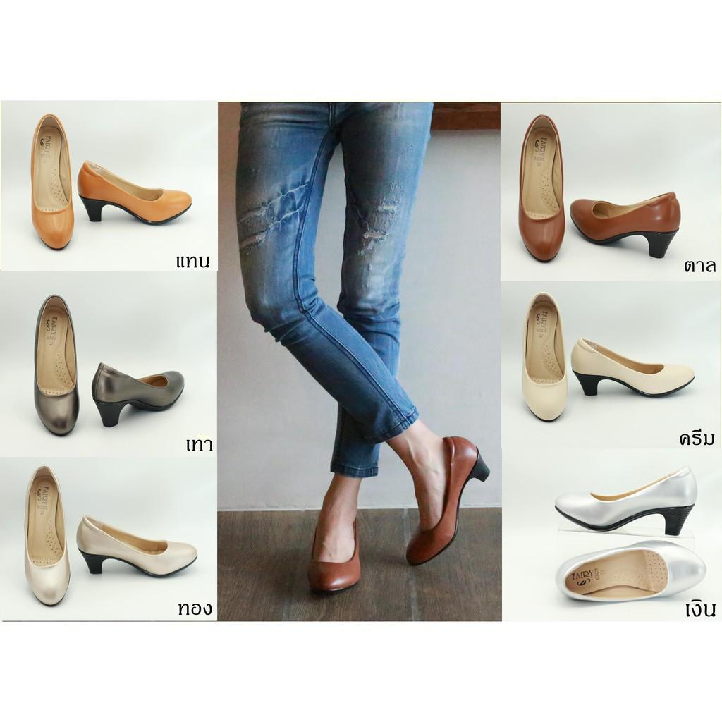 รองเท้าส้นสูงไซส์ใหญ่ รองเท้ามีส้น รองเท้าเสริมส้น รองเท้า 833 รองเท้าผู้หญิง รองเท้าคัชชูส้นสูง รองเท้าส้นสูง แฟชั่น ส้
