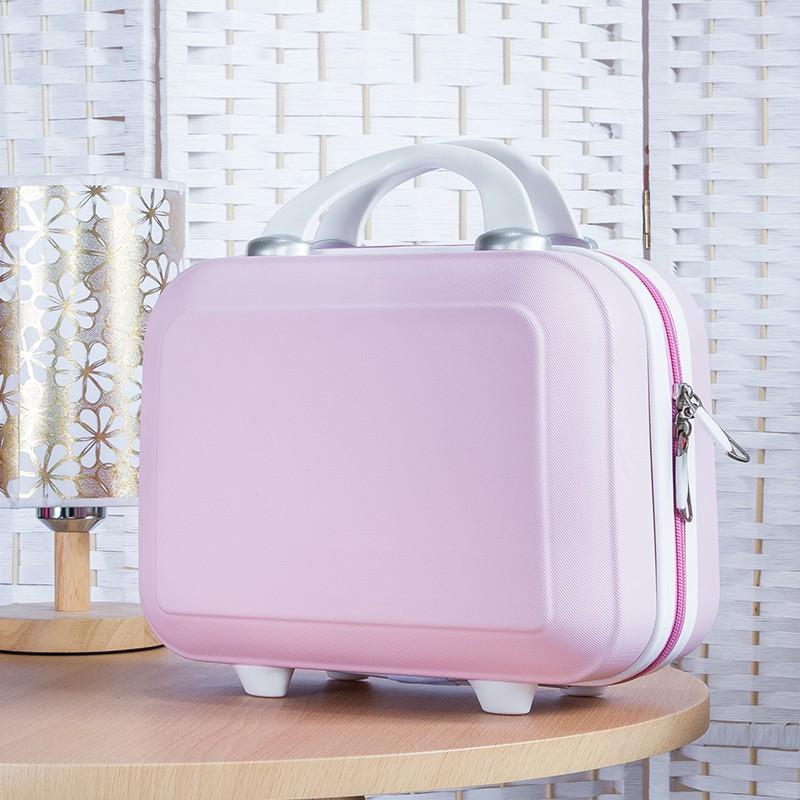 นิ้ว กระเป๋าลาก กระเป๋าเดินทางล้อคู่ แข็งแรง ยืดหยุ่นสูง น้ำหนักเบา ตัวกระเป๋ากันน้ำ14กระเป๋าเครื่องสำอางขนาดพกพากระเป๋า