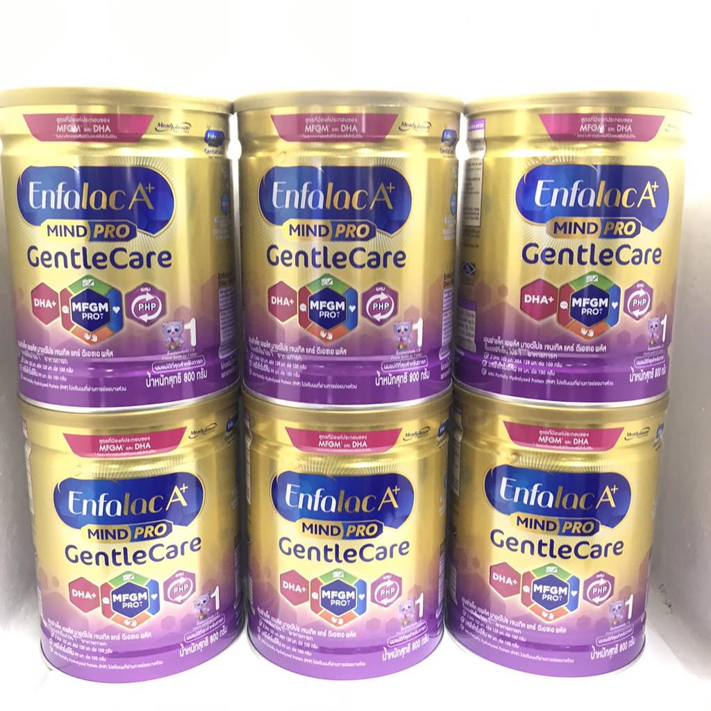 Enfalac เอนฟาแล็ค เอพลัส เจนเทิลแคร์ นมผง สูตรพิเศษโฉมใหม่  สำหรับเด็กแรกเกิด - 1 ปี 800 กรัม(ยกลัง 6กระป๋อง)