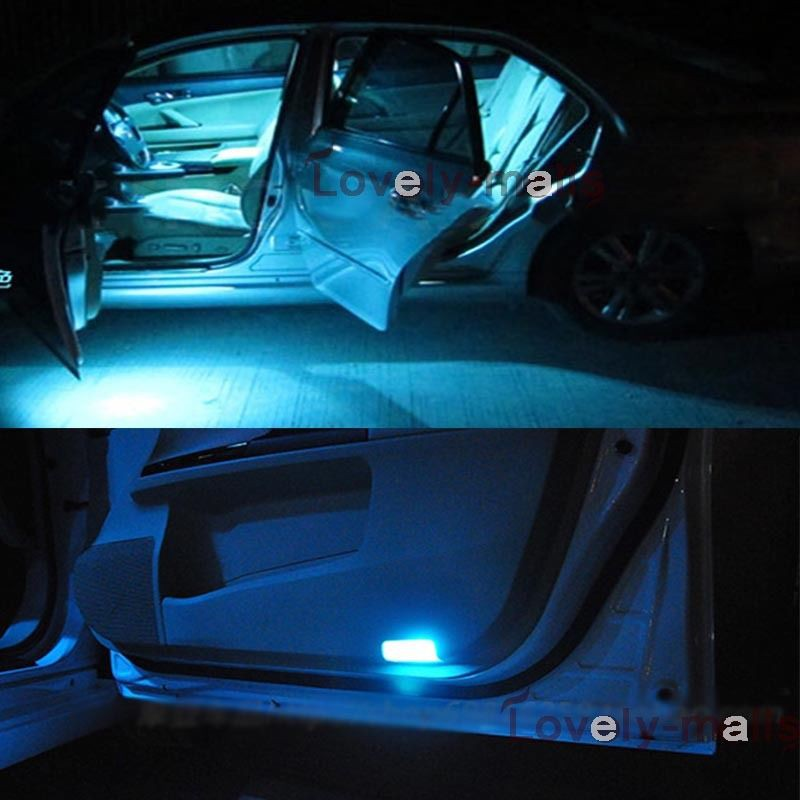 10PCS Bulbs Ice Blue LED Interior Light Package kit Fit 2010-2014 Ford Fusion J1