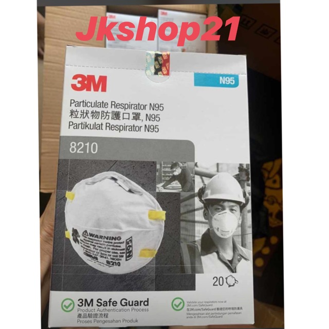 3m มาส์กหน้า 8210 Mask / N95 8210 20 ชิ้น