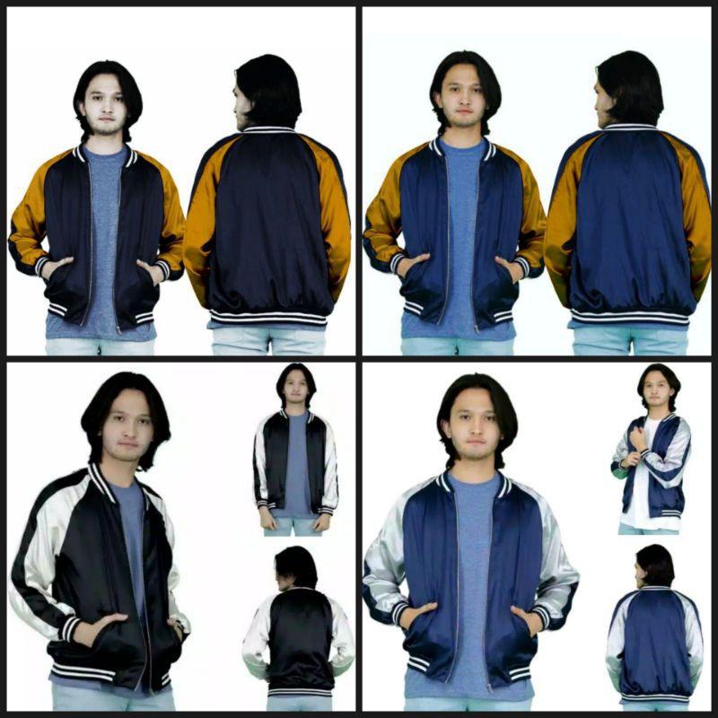 Sukajan Bomber Jacket - เสื้อแจ็คเก็ตเบสบอลสําหรับผู้ชาย