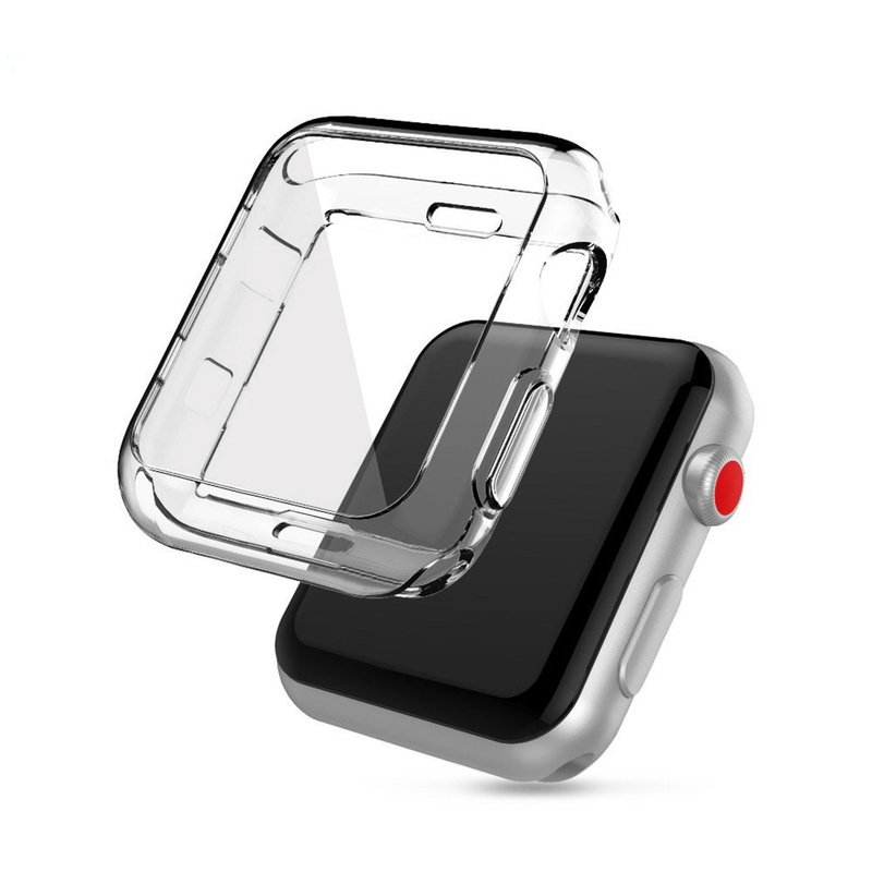 Apple Watch 5 4 3 2 Series 38MM 40MM 42MM 44MM Transparent TPU Protector Case Cover