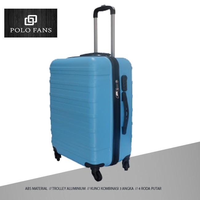 Robert Ansell 2031 กระเป๋าเดินทางขนาด 24 นิ้ว Abs 4 ล้อสีฟ้าอ่อน