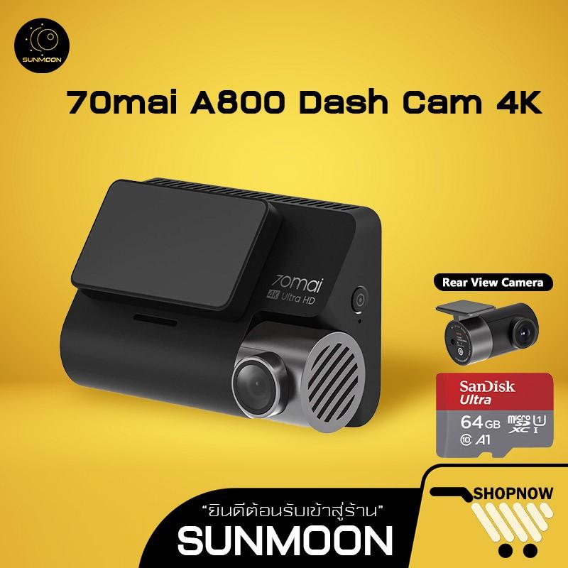70mai A800 Dash Cam 4K Dual-Vision กล้องติดรถยนต์ความละเอียด RC06 Rear Cam