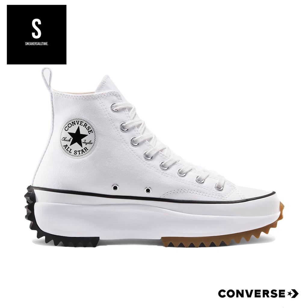 Converse Run Star Hike Hi Color White-Black รองเท้าผ้าใบ คอนเวิส
