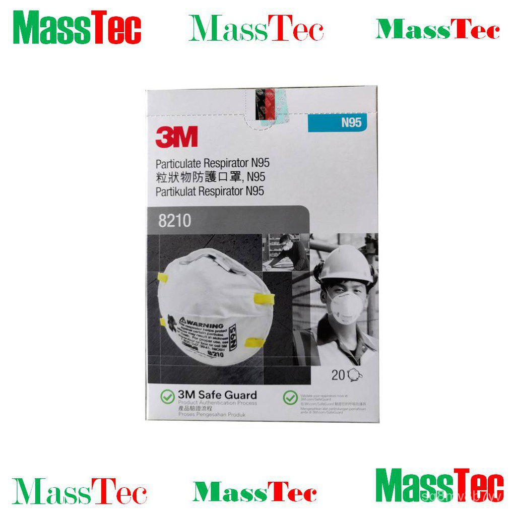 tqpu 3M Particulate Respirator 8210 , N95 Mask (20pcs/box)