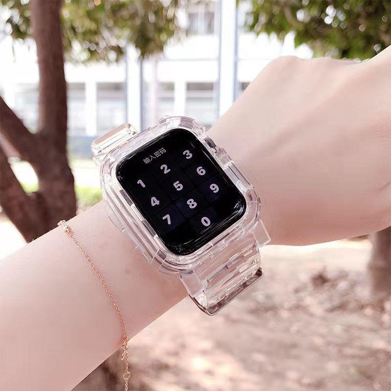 Applewatch / 6 Generation นาฬิกาข้อมือซิลิโคนใสสําหรับ Applewatch