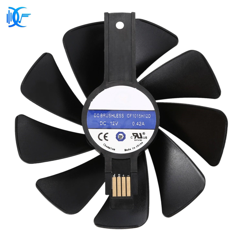 พัดลมระบายความร้อน สำหรับ  การ์ดจอ CF1015H12D DC12V แบบเปลี่ยน สำหรับ Sapphire NITRO RX480 8G RX 470 4G GDDR5 RX570 4G / 8G D5 RX580 8G 95มม.