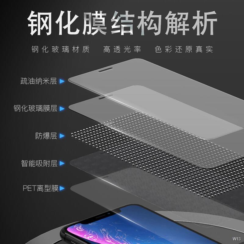 ✺▪▩ฟิล์มนิรภัย Apple 11 iPhonex เต็มจอ 12 Promax HD xsmax ไฟเขียว 11promax anti-blue light xr
