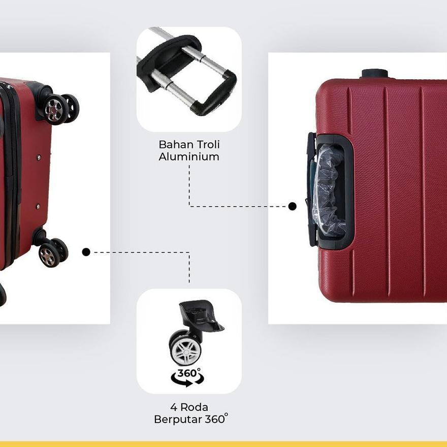 กระเป๋าเดินทาง 001 24 นิ้ว Abs