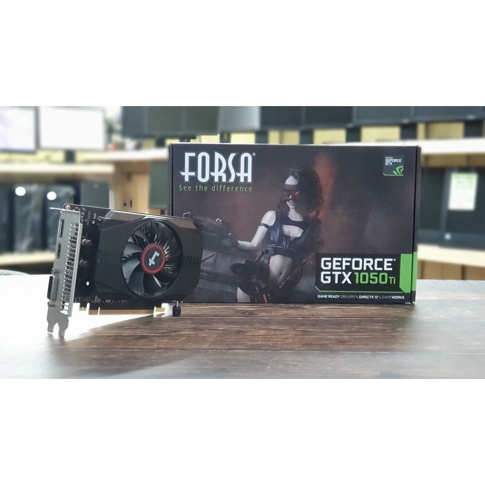 การ์ดจอ GTX1050Ti 4 GB มือสอง มีกล่อง มีประกันศูนย์