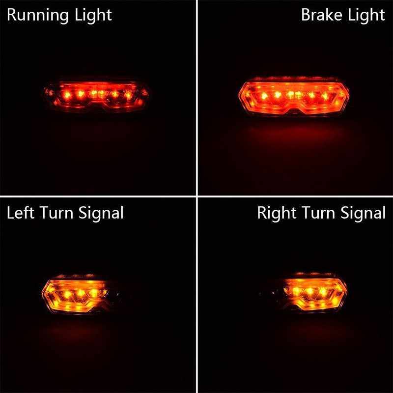 1x Motorcycle LED Brake Tail Light Integrated Turn Signal For Honda Grom MSX 125