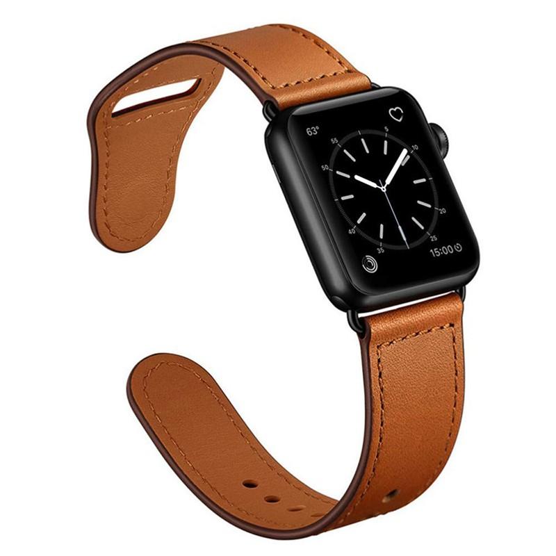 สายนาฬิกาข้อมือหนังสําหรับ Iwatch6 Strap Se Watch Applewatch5 4