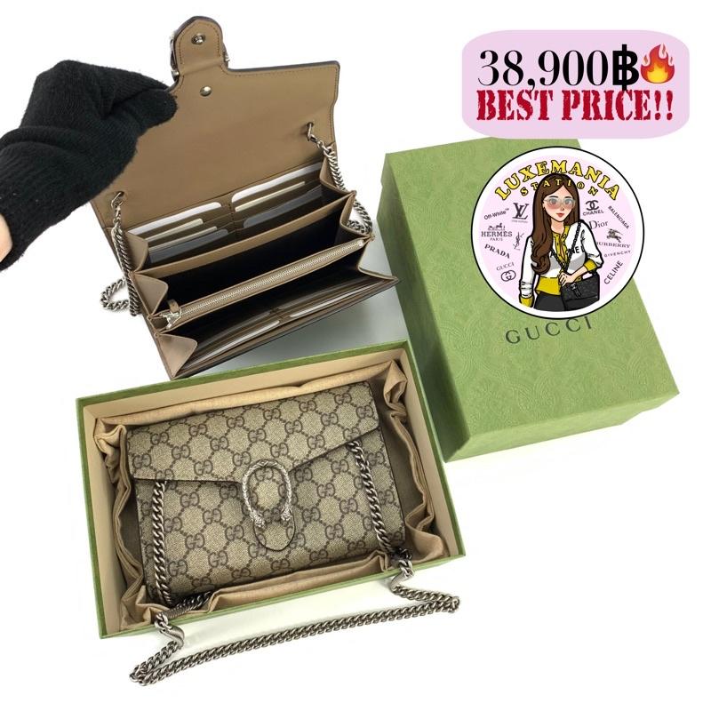 ▪▽✎👜: New!! Gucci Dionysus GG Supreme Chain Wallet ‼️ก่อนกดสั่งรบกวนทักมาเช็คสต๊อคก่อนนะคะ‼️