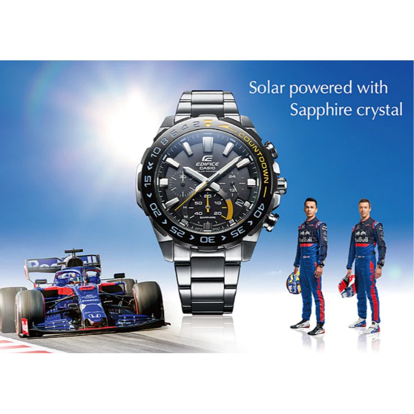 🥰❉Casio Edifice นาฬิกาข้อมือผู้ชาย สายสแตนเลส รุ่น EFS-S550DB-1A - สีเงิน