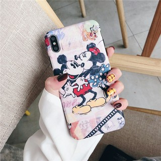 Image # 5 of Review เคสไอโฟน iPhone X XS Max XR iPhone 7 8 Plus iPhone 6 6S Plus Cartoon Mickey & Minnie Matte Soft Case