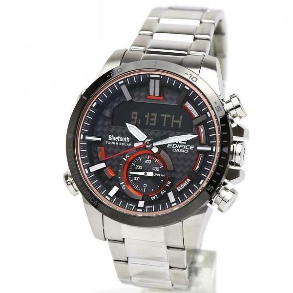 Casio Edifice LIMITED EDITION นาฬิกาข้อมือผู้ชาย สายสแตนเลส รุ่น ECB-800DB-1A K7r2