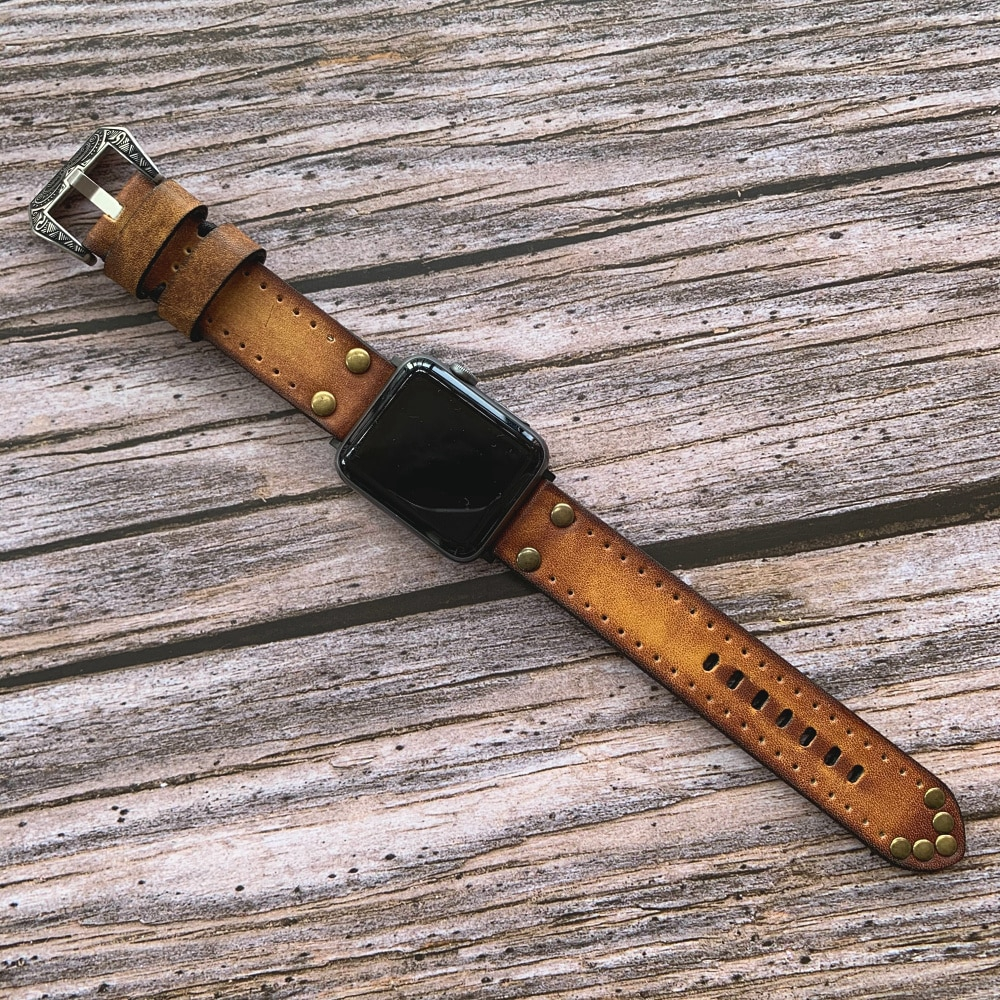 สายนาฬิกาข้อมือหนังสําหรับ Apple Watch Band 38mm 40mm 42mm 44mm สําหรับ Apple Iwatch Strap Series 2 3 4 5