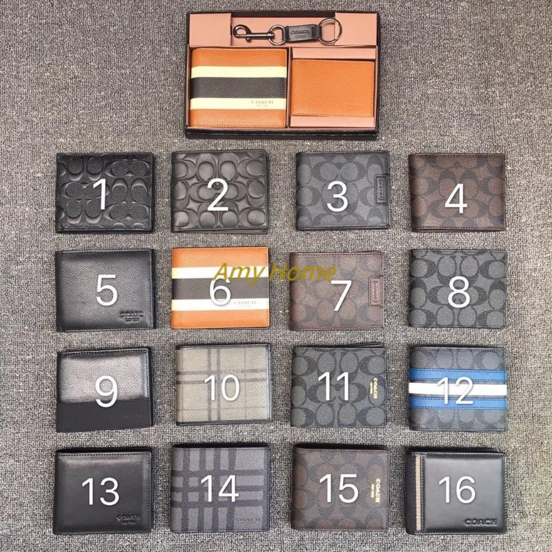 Amy COACH กระเป๋าสตางค์ F74634 กระเป๋าสตางค์ coach กระเป๋าสตางค์ใบสั้น กระเป๋าสตางค์ผู้ชาย กระเป๋า ของแท้ 100%