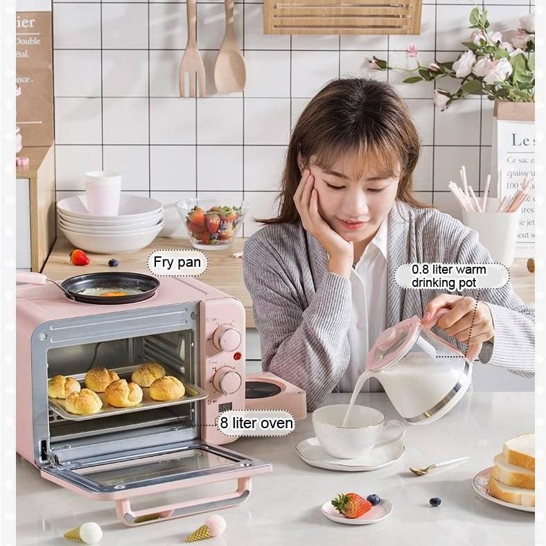 เตาอบ เวฟอุ่นอาหาร สไตล์เด็กหอ 3IN1 เครื่องทำกาแฟ ทำเมนูอาหารเช้า มัลติฟังก์ชั่น ยี่ห้อBear-สินค้ามีพร้อมส่ง-