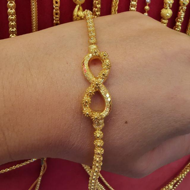 สร้อยมือ Infinity ดอกพิกุล ทองแท้ 96.5%  หนัก 1 บาท ยาว 16cm ราคา 28,950บาท