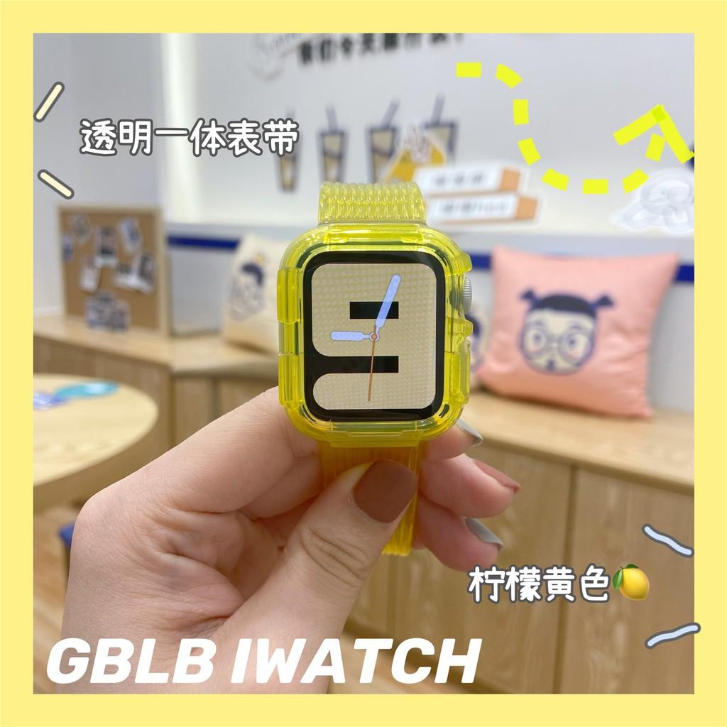 applewatch6 เข็มขัด▦ใช้ได้กับ Apple Watch 6applewatch ในตัว สายรัดใส iwatchSE สาย Glacier Limited 1-6 รุ่น
