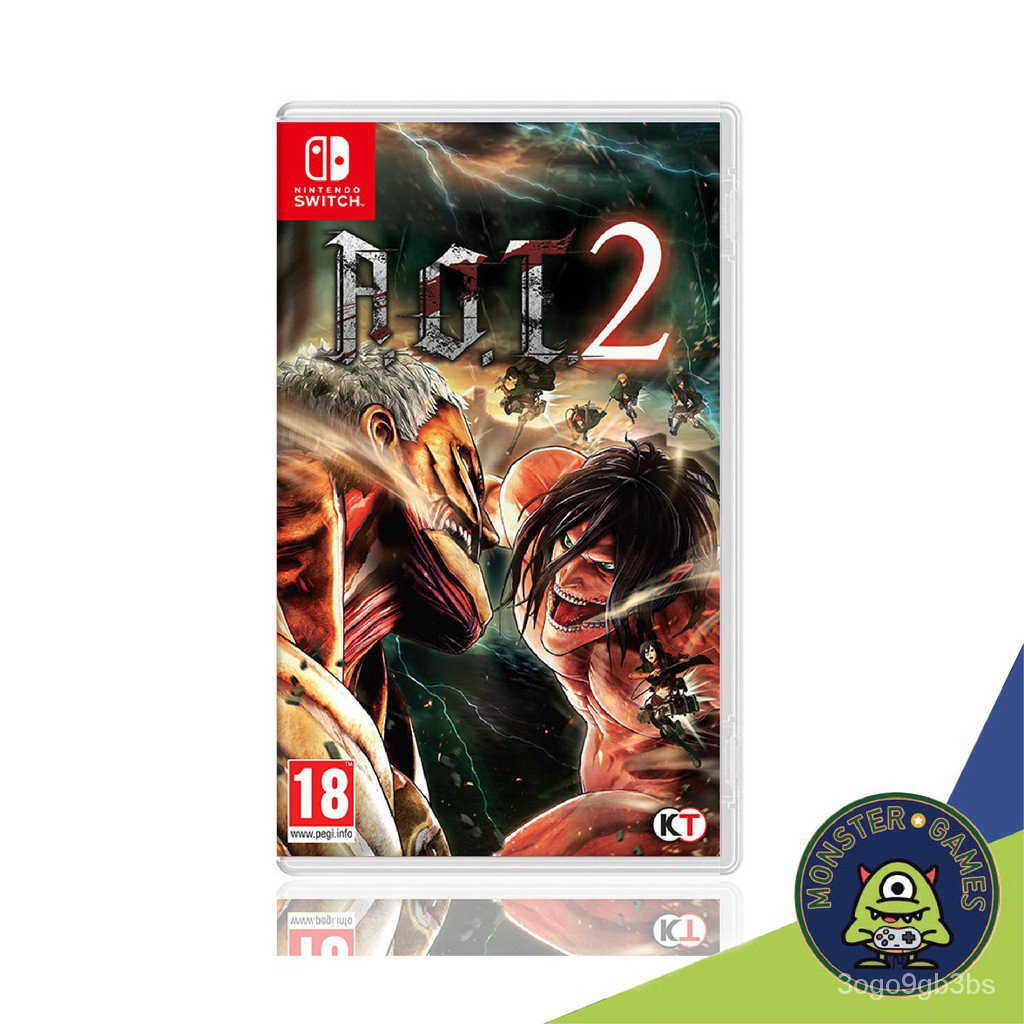 Attack on Titan 2 (AOT 2) Nintendo Switch game (เกมส์ Nintendo Switch)(ตลับเกมส์Switch)(แผ่นเกมSwitch)(A.O.T. 2 switch)