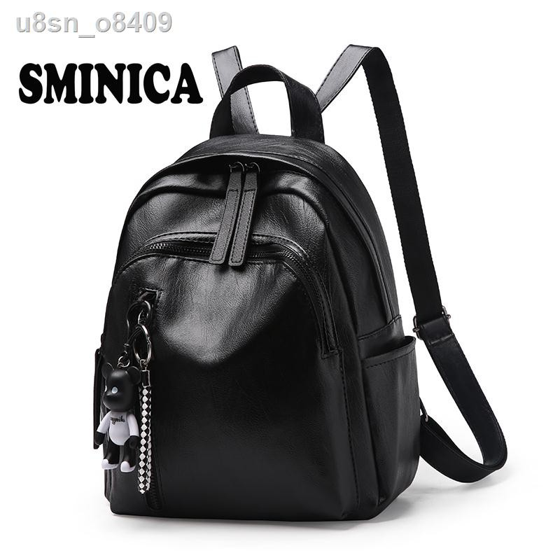 ▫∋►ฮ่องกงกระเป๋าเป้หญิงขนาดเล็ก ck ใหม่สไตล์เกาหลีเทรนด์แฟชั่นหนังนุ่มกระเป๋าเป้ใบเล็กหนังกระเป๋านักเรียนกระเป๋าเดินทาง