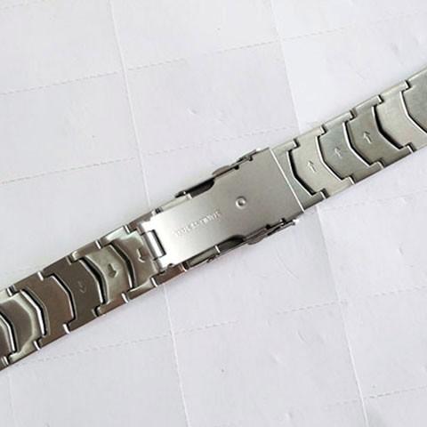 ☜Casio EF-524 สายสแตนเลส 5051 สายเหล็กคุณภาพสูงสร้อยข้อมือกดคู่ประกันหัวเข็มขัดอุปกรณ์เสริมนาฬิกาชาย 22mm