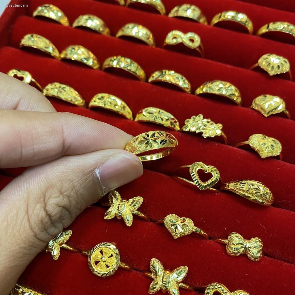ราคาต่ำสุด▬Flash Sale แหวนทอง 1 กรัม เลือกลายทางแชท หนัก 1.0 ทองคำแท้ 96.5% มีใบรับประกัน