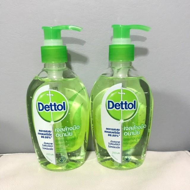 Dettol เดทตอล เจลล้างมืออนามัย รีเฟรช สูตรหอมสดชื่น ผสมอโลเวร่า 200มล. 1 ขวดอุปกรณ์อาบน้ำ
