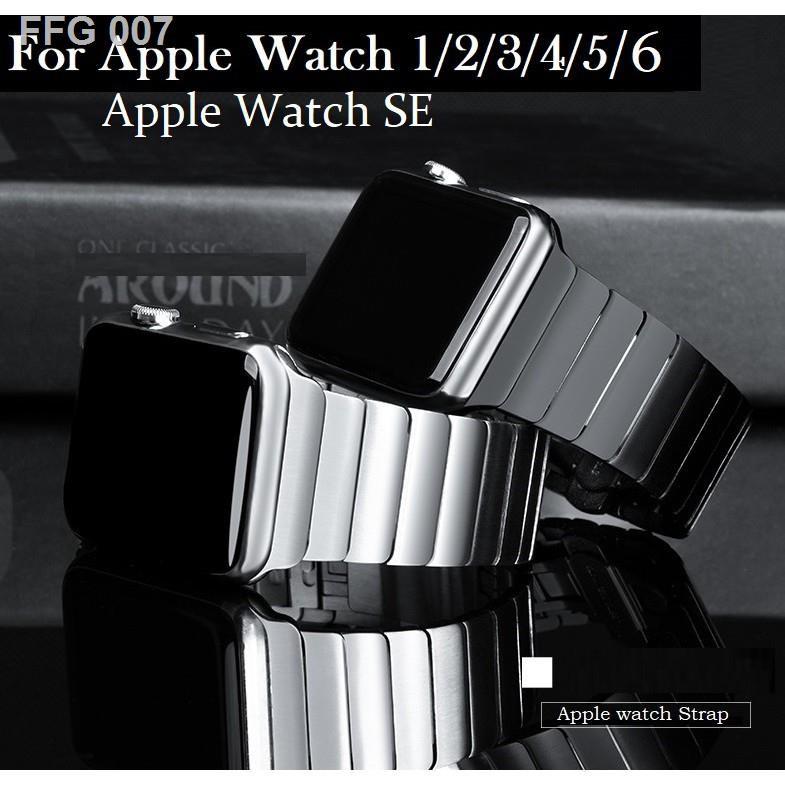 【สินค้าคุณภาพราคาถูก】Luxury สายนาฬิกา Apple Watch เหล็กกล้าไร้สนิม สาย Applewatch Series 6 5 4 3 2 1,Apple SE size 38mm1