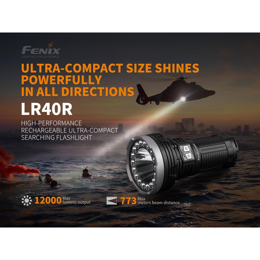 ไฟฉาย Fenix LR40R  สินค้าตัวแทนในไทยมีประกัน  3 ปี