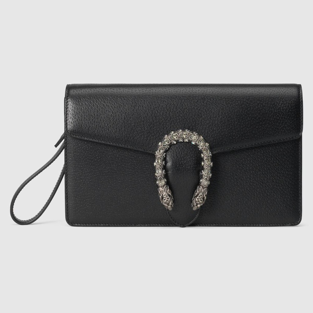 Gucci / Dionysus Series คลัชหนัง / แบบใหม่ / กระเป๋าสตางค์ใบยาว / ที่ใส่บัตร / ของแท้ 100% / 26CMกระเป๋าแท้
