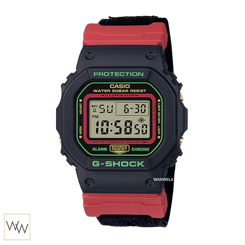 ของแท้ นาฬิกาข้อมือ G-Shock รุ่น DW-5600THC-1DR (สายผ้า) รุ่นสีพิเศษ Throwback Christmas Series