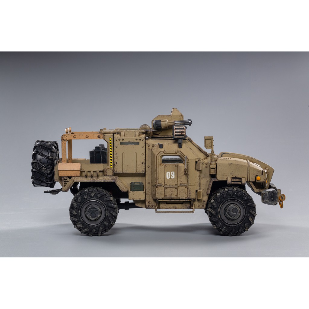 w4ly JOYTOY 1/18 Action Figure Vehicle Crazy Reload SUV 09 Sand Desert Beige Version Anime Collection Model Toy For Gift