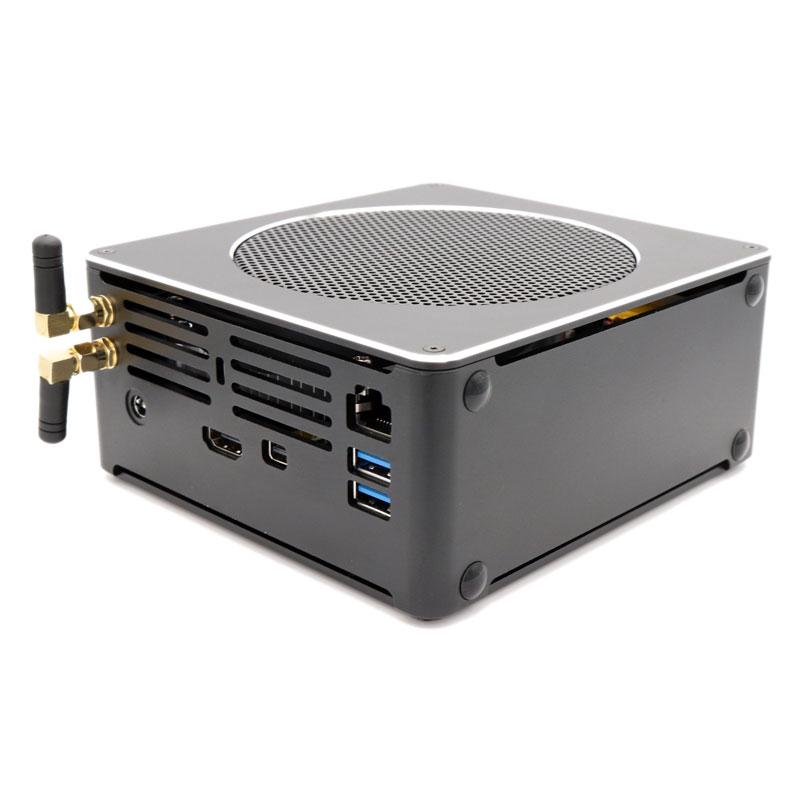 Review Eglobal S200 Mini PC i7-8750H Barebone Quad Core Win10 DDR4 Intel UHD Graphics 630 4.1GHz Fanless Mini Desktop PC SATA