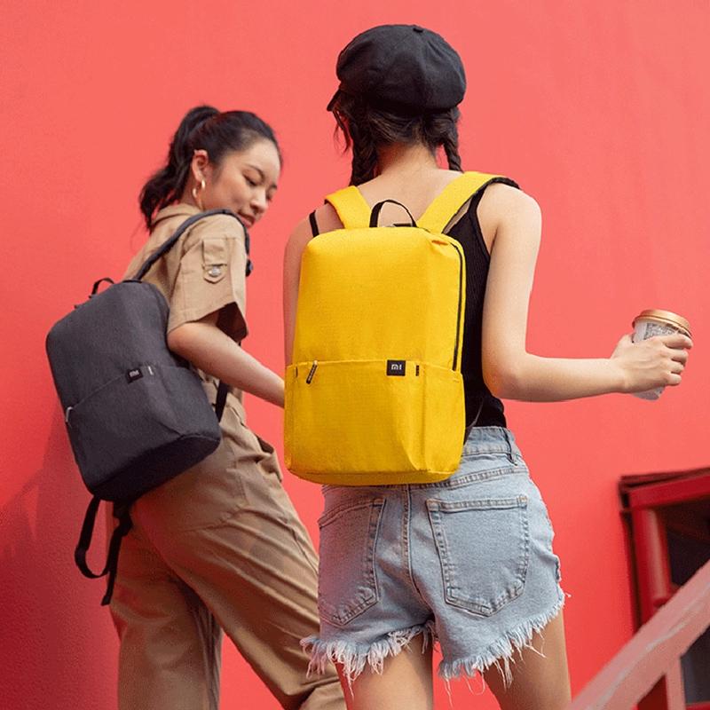 Xiaomi Xiaomi ที่มีสีสันขนาดเล็กกระเป๋าเป้สะพายหลังกระเป๋าหน้าอกเบาสบาย ๆ นักเรียนที่เดินทางมาพักผ่อนเดินทางกระเป๋าสะพาย