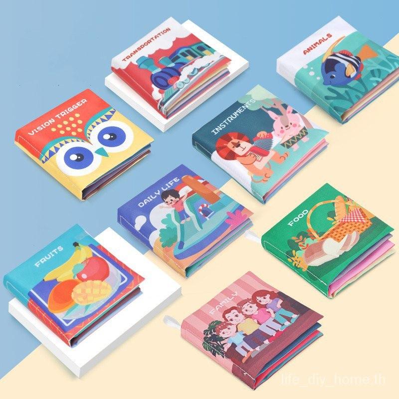 Baby Soft Cloth Cartoon Books Set Toy Infant Early Learning Educational English Book Toddler Newborn Toys Kids Fabric Girls Boys Children หนังสือเด็ก หนังสือผ้า หนังสือการ์ตูนชุดของเล่นเด็กอ่อนของเล่นเสริมพัฒนาการการเรียนรู้ภาษาอังกฤษสำหรับเด็กวัยหัดเดิน
