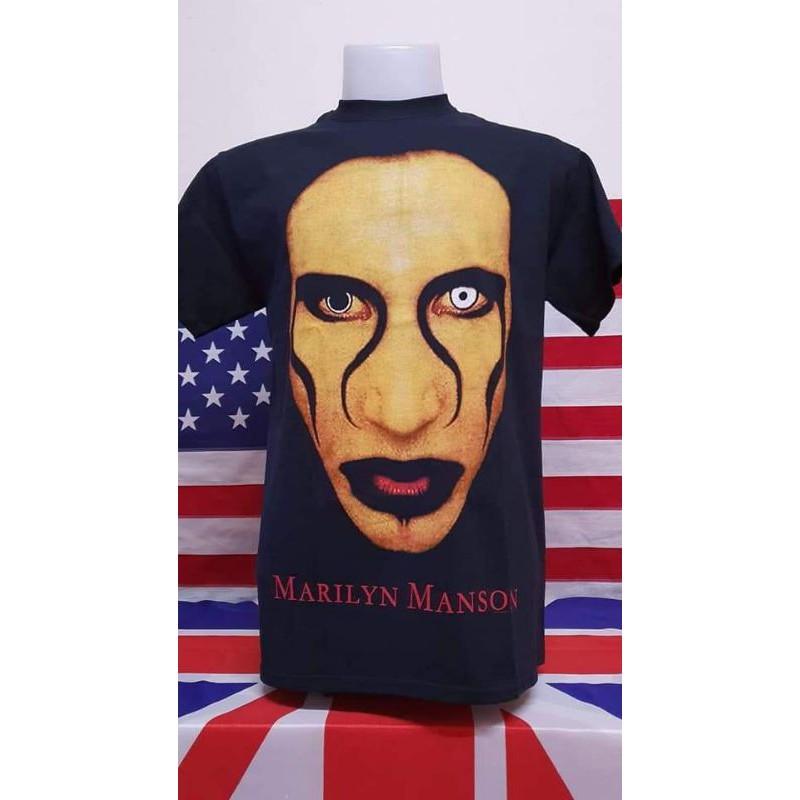 เสื้อวง MARILYN MANSON - แมนสันหน้าทอง จัดไปราคาอย่างเบา สวยๆ โดนๆ คัดเด็ดๆมาราคาถูกๆ ป้าย GILDAN