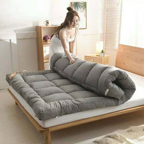 ที่นอนท็อปเปอร์ 6ฟุต topper ท็อปเปอร์ 5 ฟุต ที่นอนท็อปเปอร์ topper สีเทา เลือกขนาด 3.5ฟุต 5ฟุต 6ฟุต ตามขนาดเตียงได้เลย