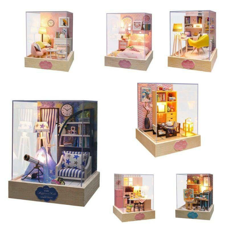 พร้อมส่ง บ้านตุ๊กตา Diy Industry มีฝาครอบกันฝุ่น.