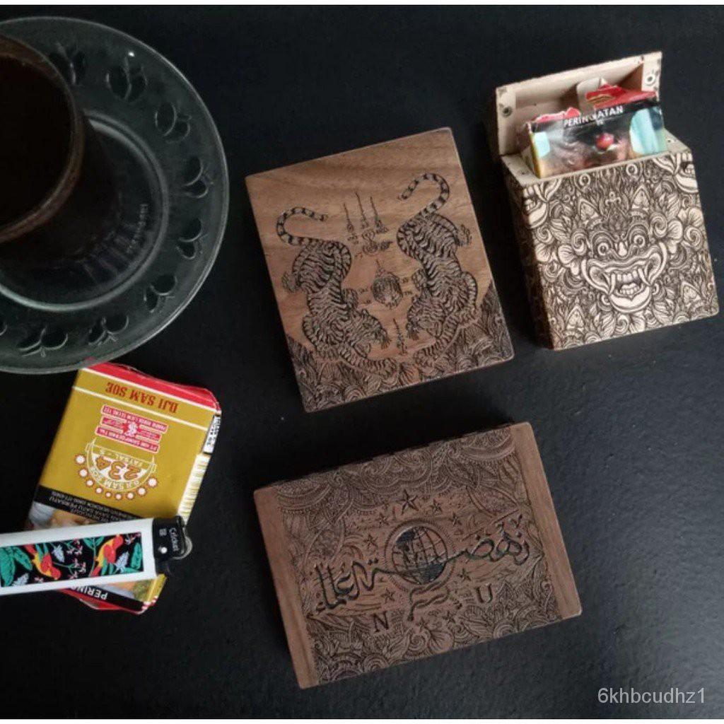 Nahdhatulama Carved Cigar Cigarette Case Holder#¥%¥# onlF