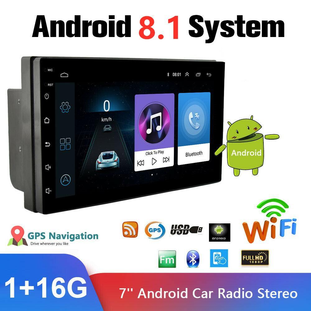 ( 2ram + 16 G ) หน้าจอสัมผัส 7 นิ้ว 2 Din Android 9 . 0 Wifi Gps เครื่องเล่น Mp 5 2 . 5 D ป้องกันรอยขีดข่วน